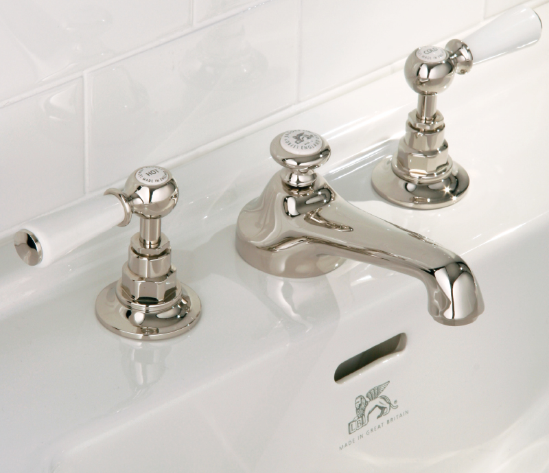White Lever Basin Tap - Lefroy Brooks